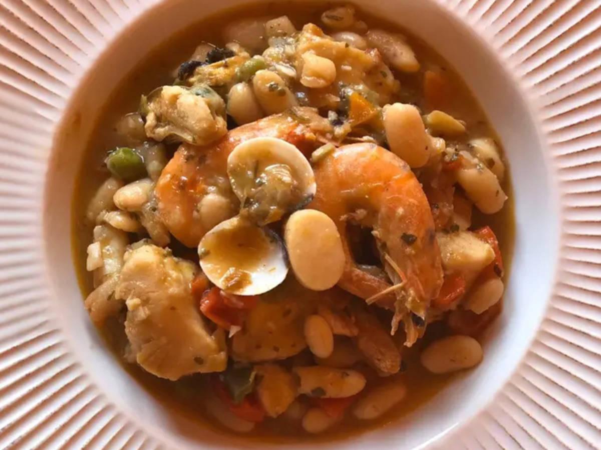 Spicy sea white beans 🌶