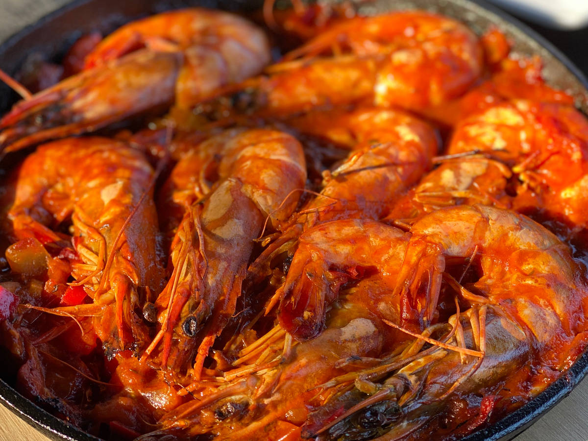 Prawns with Tomatosauce