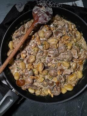 Gnocchi Champignons Pfanne (vegan)