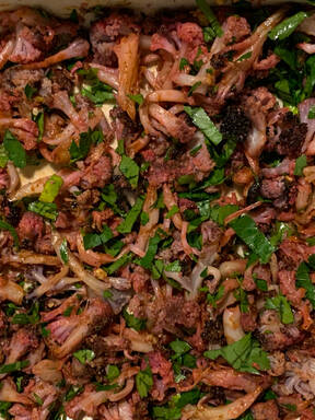 Roasted cauliflower salad (oriental)
