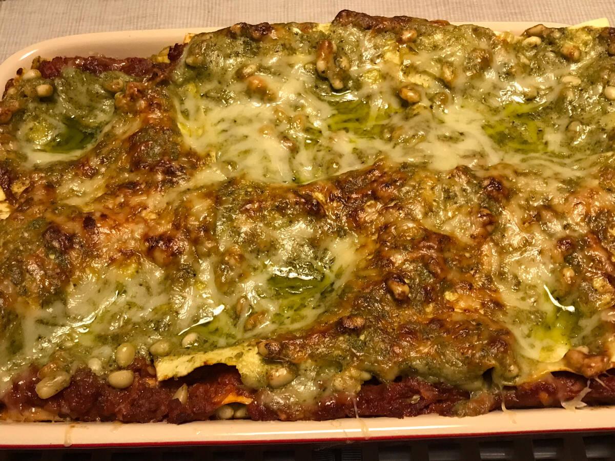 Vegetarische Lasagne tricolori