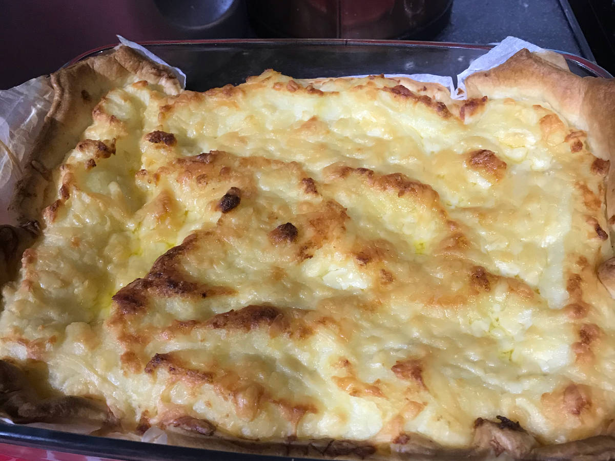 Mum's cheese and potato pie