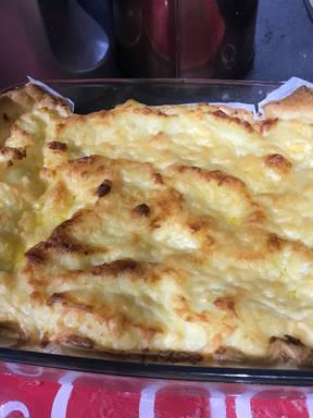 Mum's cheese and potato pie