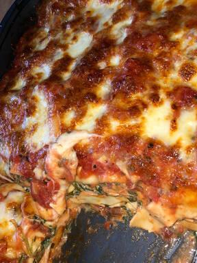 Vegetarische Spinat-Ricotta-Pilz-Lasagne