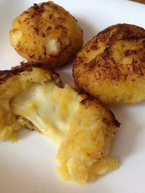 bananas stuffed with cheese