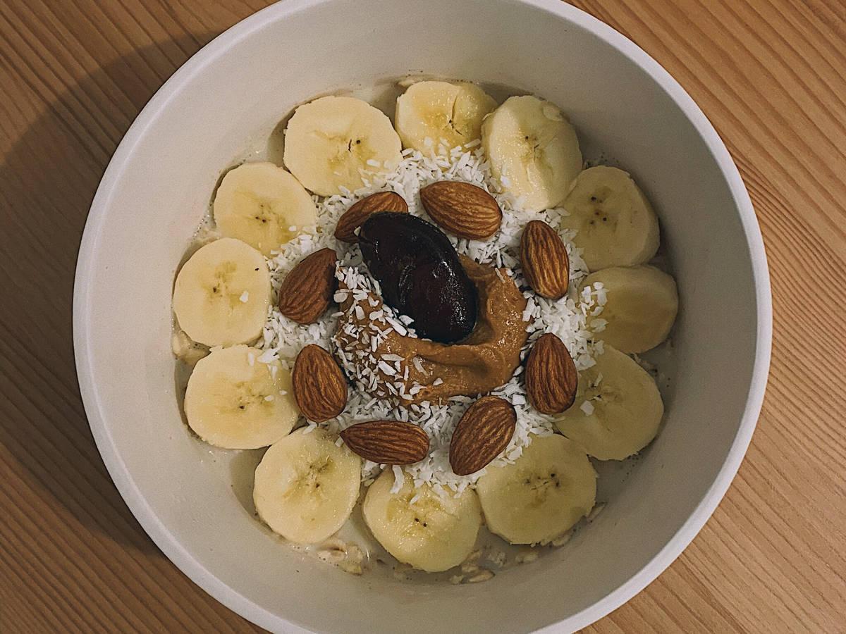 Overnight Oats (Banane-Erdnussbutter)