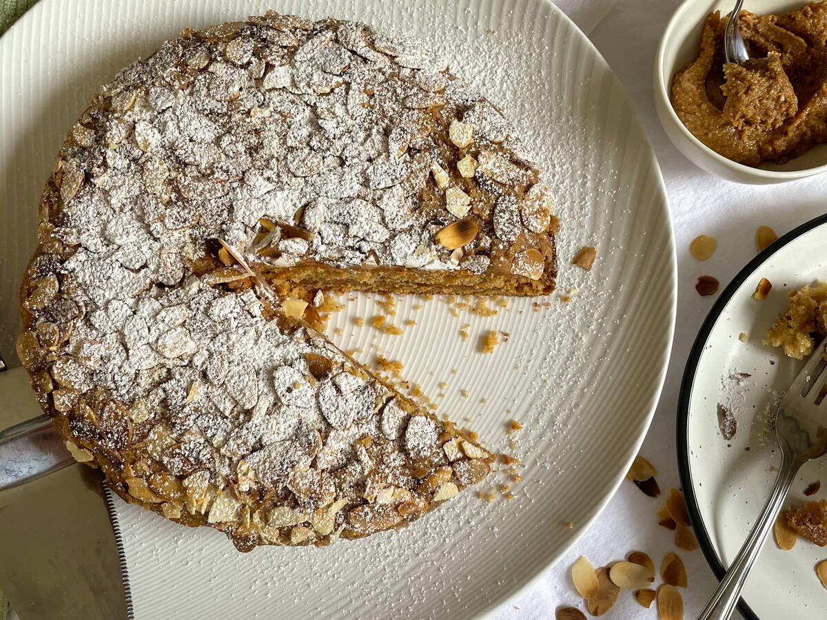 Toasted Almond Croissant Cake