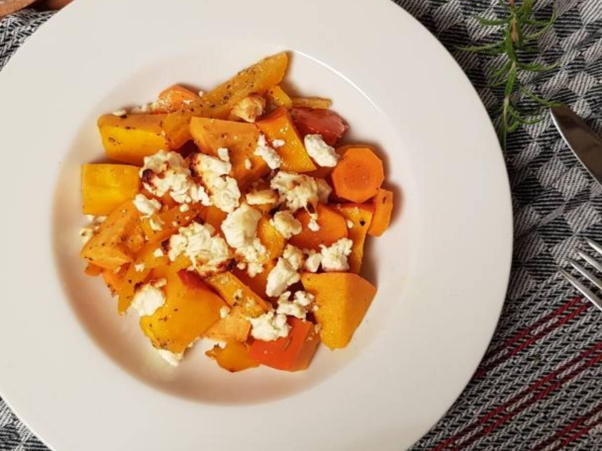 Saisonales Ofengemüse mit Feta