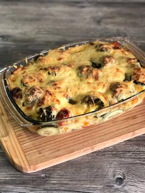 Gemüse-Kartoffelgratin