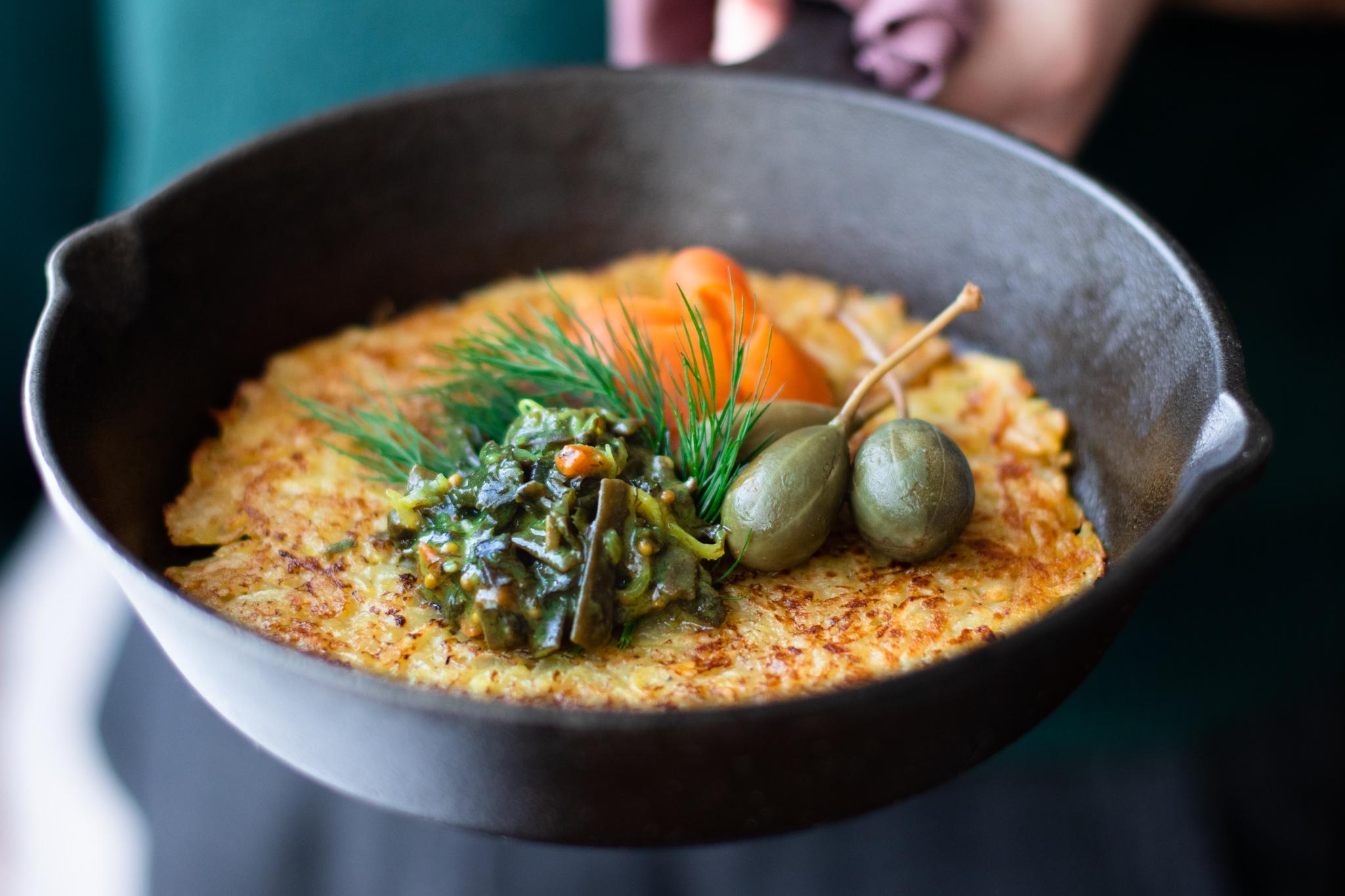 Rösti with Gravlax sea salad from Nordic Oceanfruit