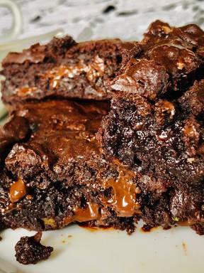 Tasty vegan Avocado Brownie