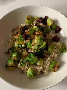 Risotto with Brussels Sprouts