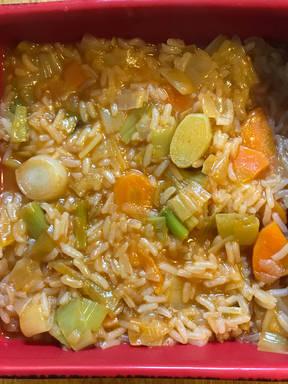 Vegan Leek with rice