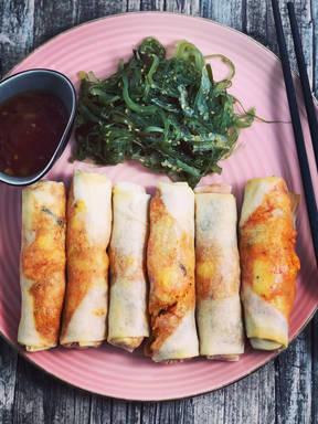 Kimchi Frühlingsrollen