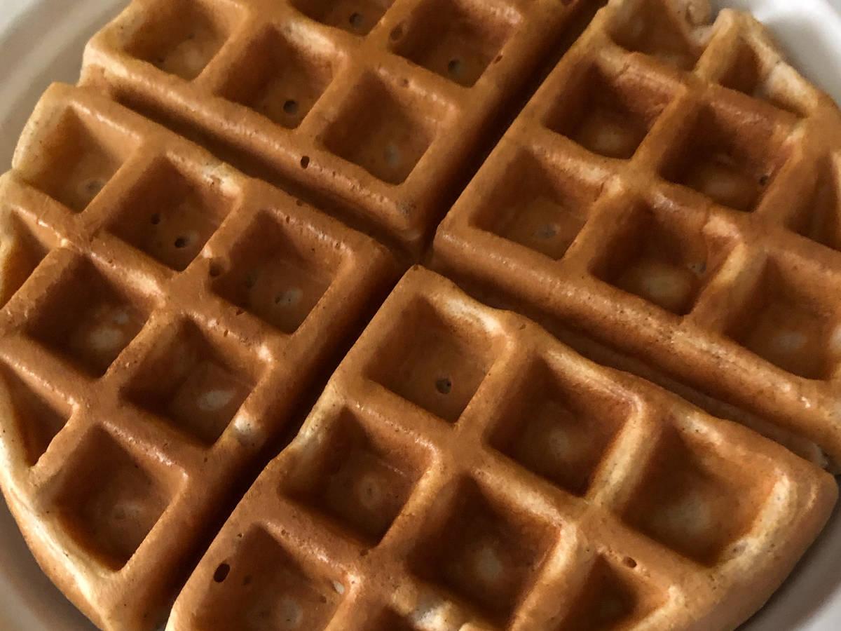 Waffle with cinnamon