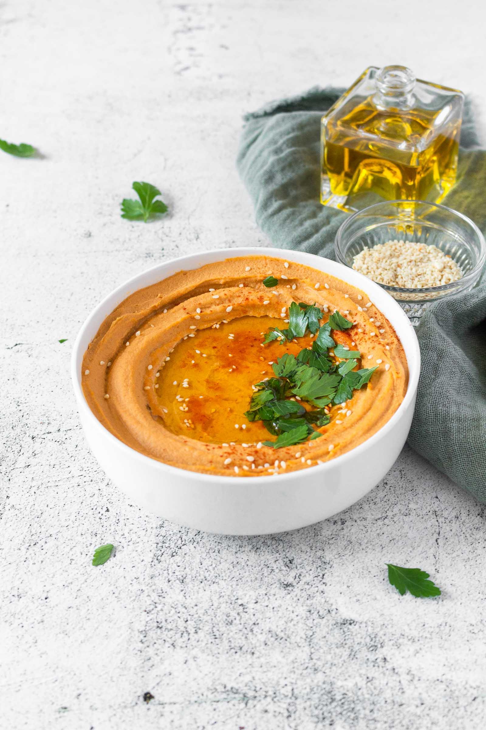 Creamy Harissa Hummus