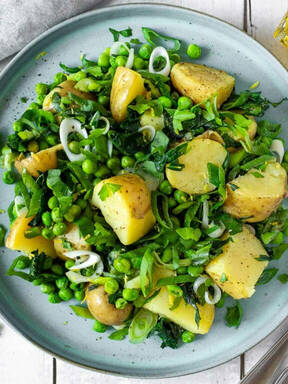 New Potatoes, Wild Garlic and Spring Greens
