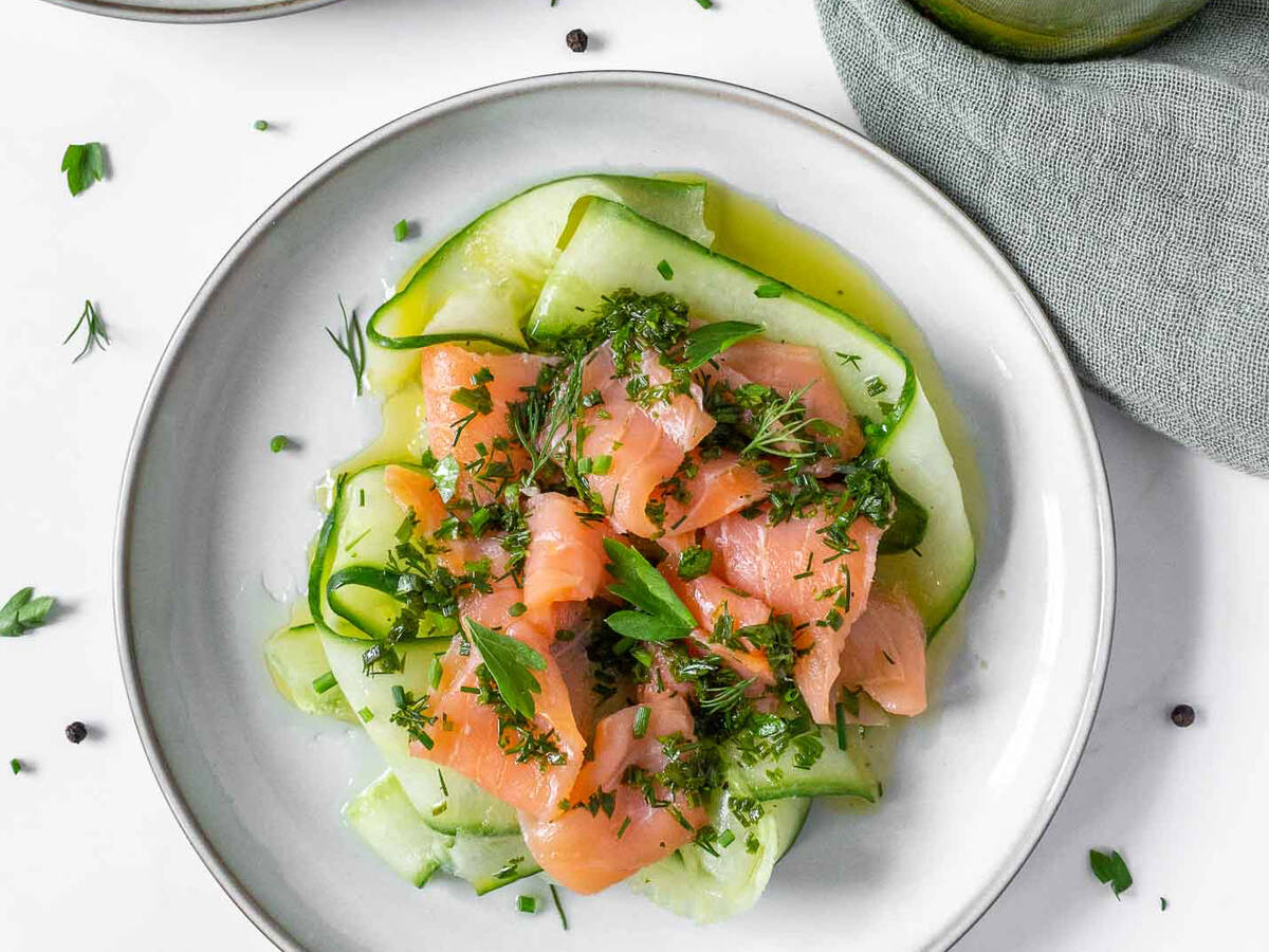 Smoked Salmon Salad with Herb Vinaigrette