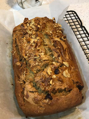Banana Bread with Peanut Butter & Chocolate Chips