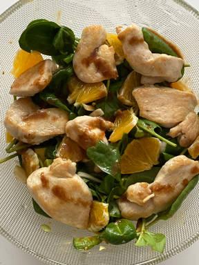 Orange club salad
