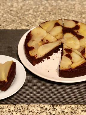 Upside-Down Pear Chocolate Cake