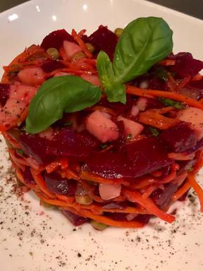 Russian Vinaigrette Roasted Beet Salad.