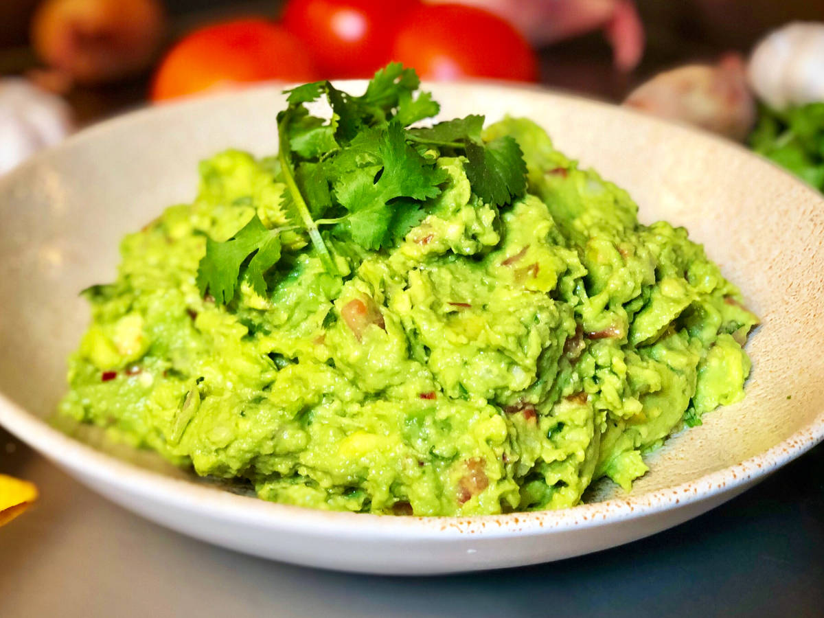 Homemade Guacamole With Cumin.