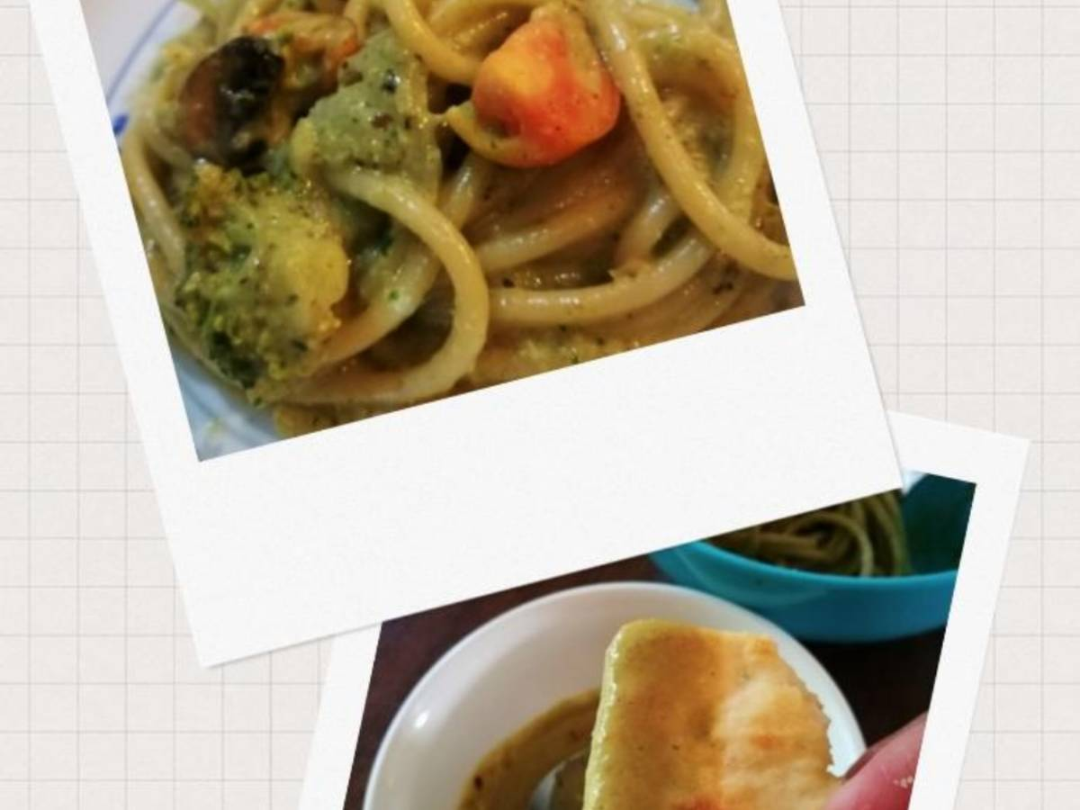 kids meal : creamy-greens sauce