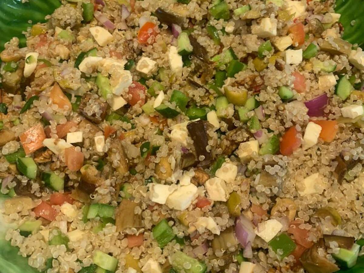 Quinoa eggplant salad