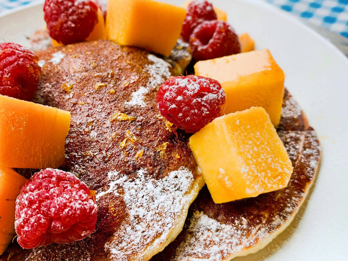 Pancakes with zesty orange syrup