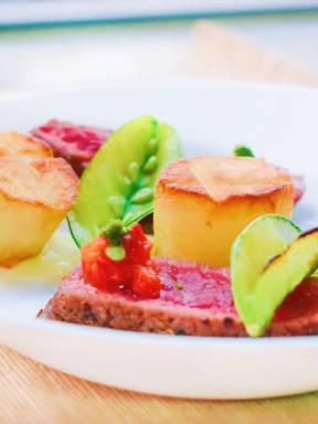 Festive flank and fondant potatoes