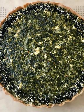 Spinat Schafskäse Quiche (25 cm)