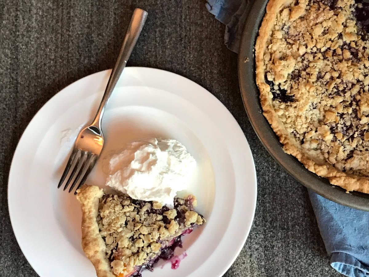 Peach Blueberry Pie