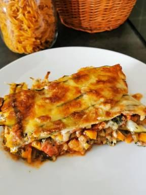 Zucchini Lasagne mit Bechamelsoße