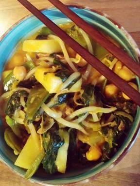 fruchtig grünes Curry mit Lamm