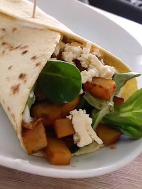 Vegetarischer Gemüse-Wrap