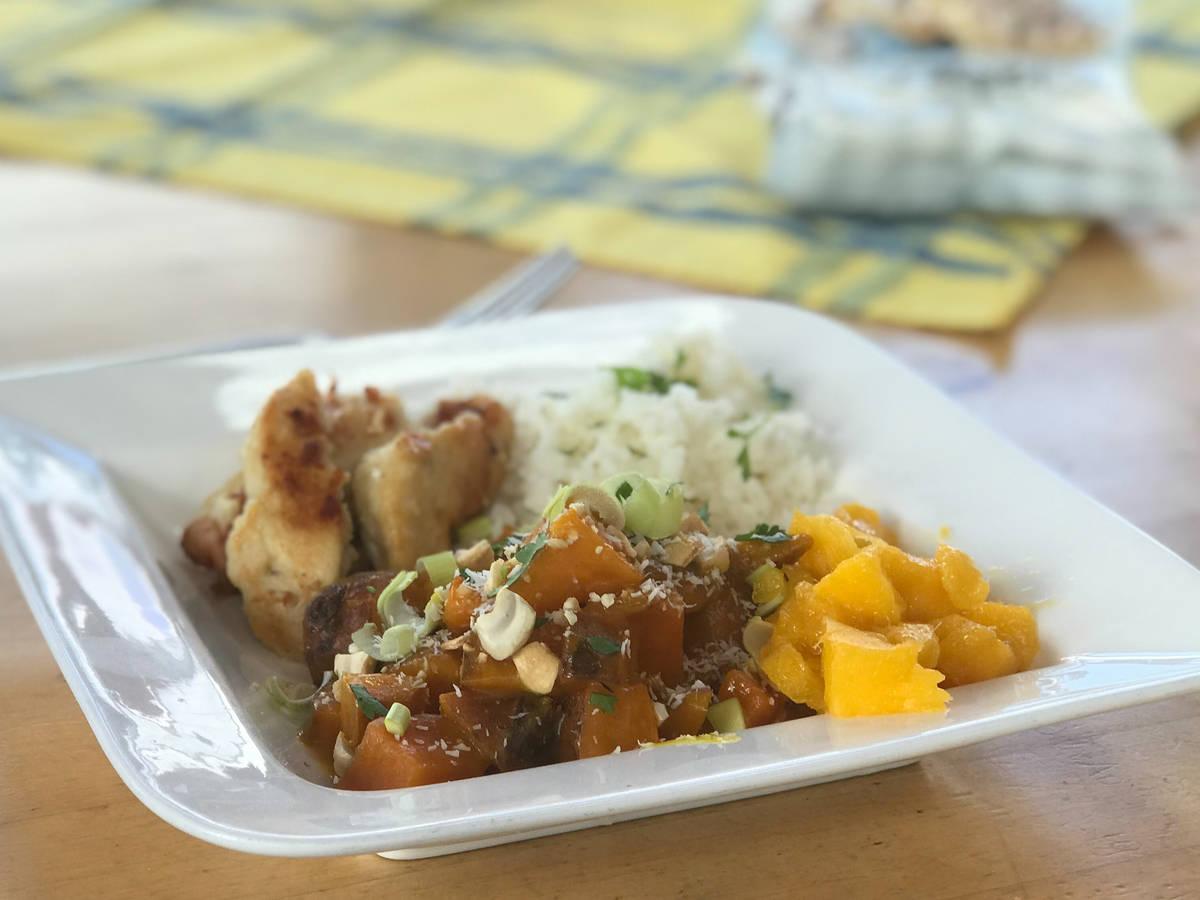 Hühnchen-Süßkartoffel-Mango Curry