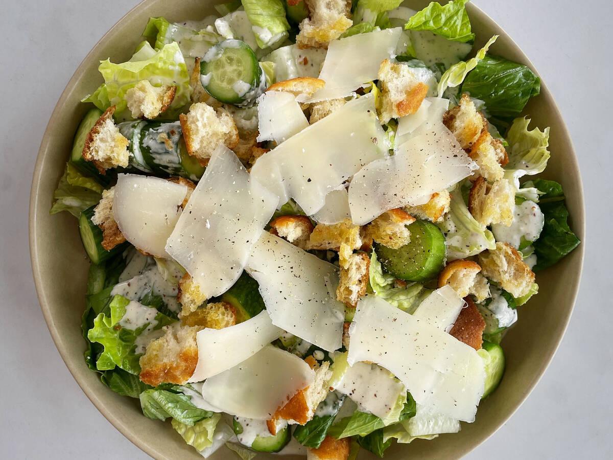 Vegetarischer Caesar Salad