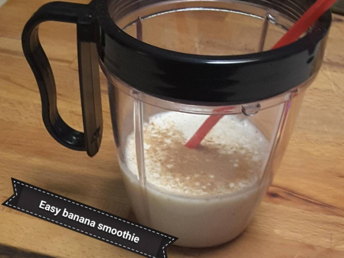 Easy 2 ingredient banana smoothie!