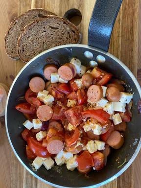 Sonntagsfrühstück aus der Pfanne