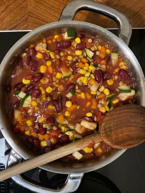 Chili sin Carne mit Berglinsen
