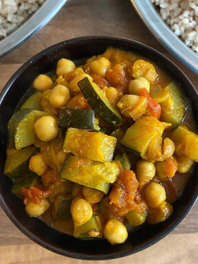 Zucchini-Chana Masala