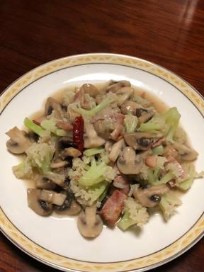 蘑菇煎花菜