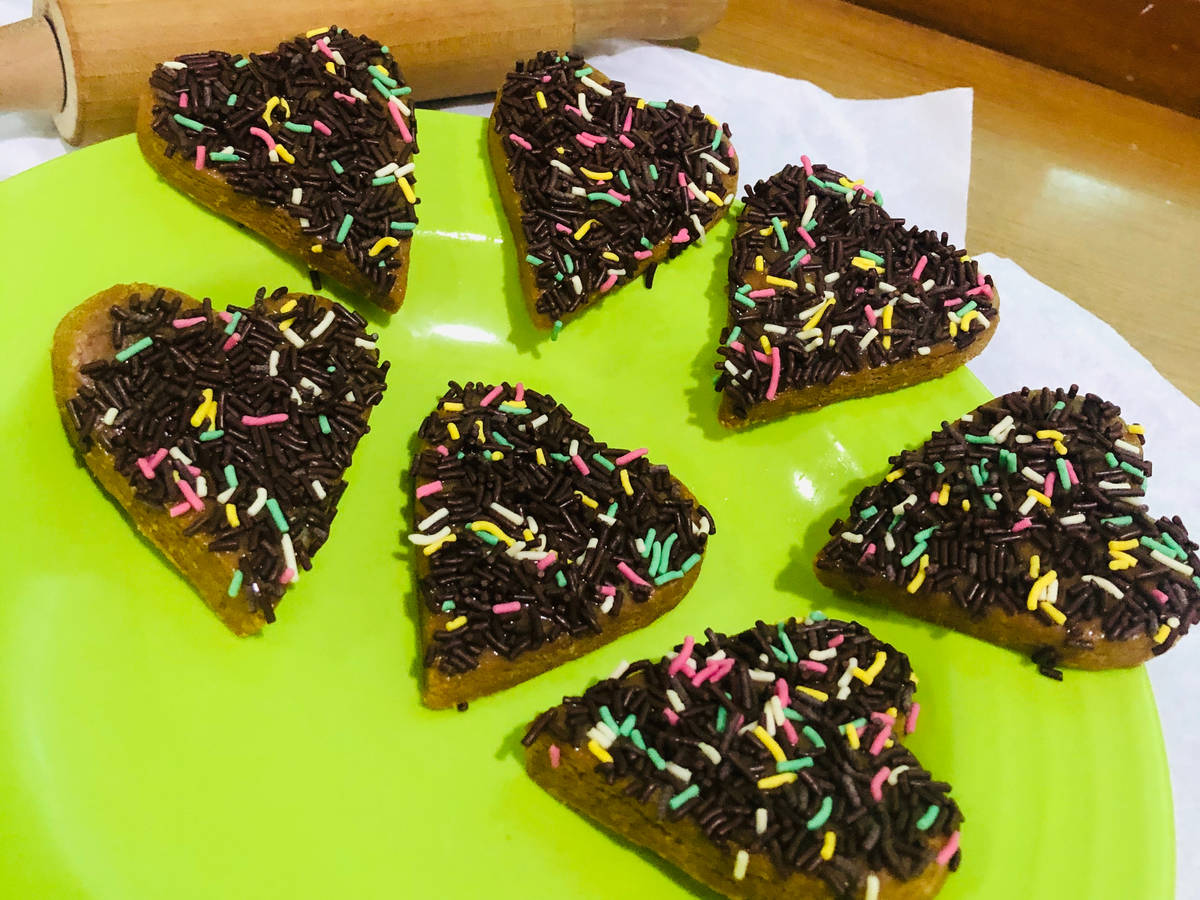 Homemade choco biscuits