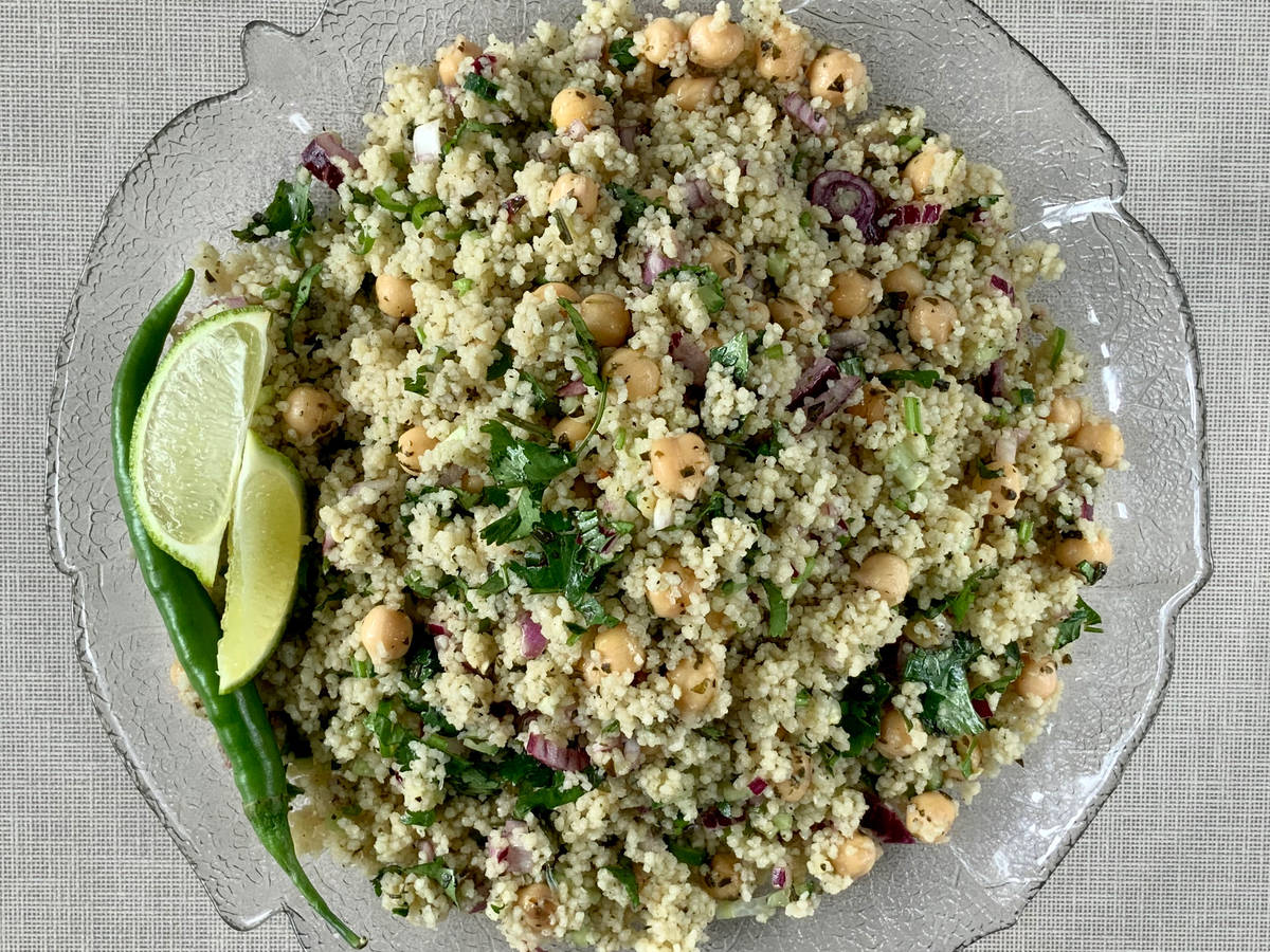 Chickpeas Couscous Salad