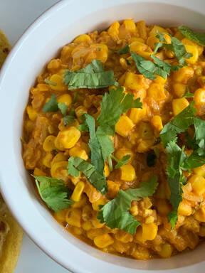 Sweetcorn Curry (Makai Nu Shaak)