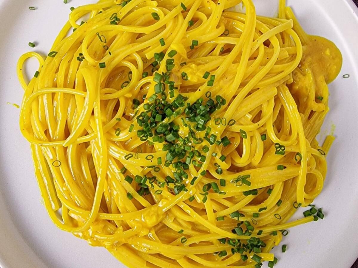 Silky turmeric pasta