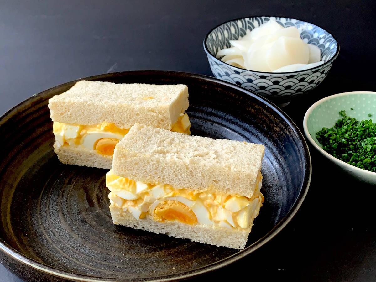 Tamago sando (Japanese egg salad sandwich)