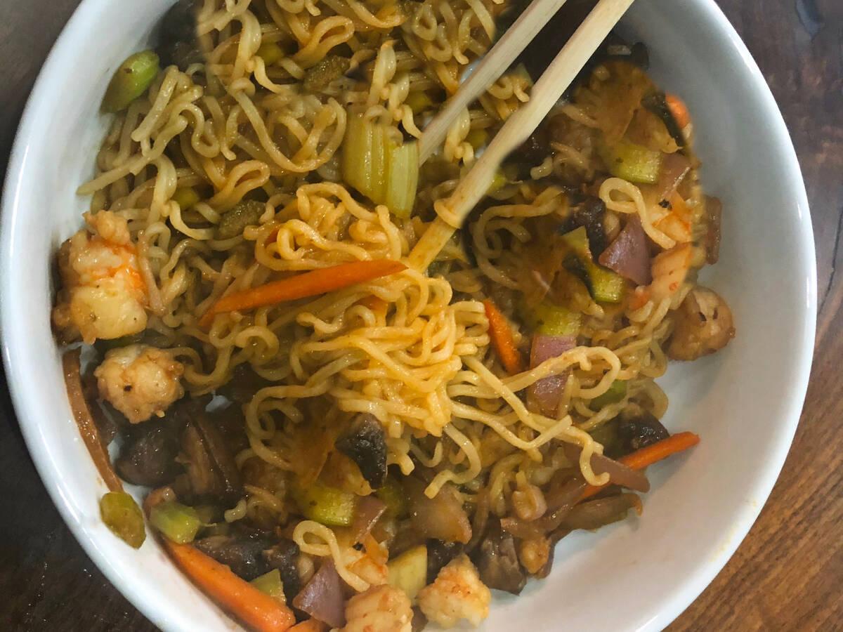 Shrimp Stir-Fry For One