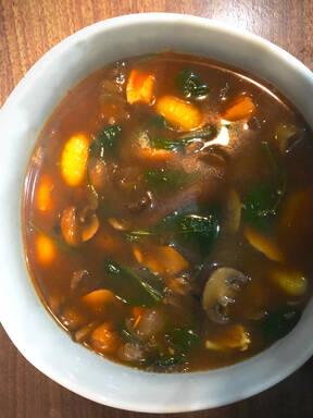 Chicken Mushroom Gnocchi soup for one